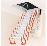 钛镁合金半自动伸缩楼梯